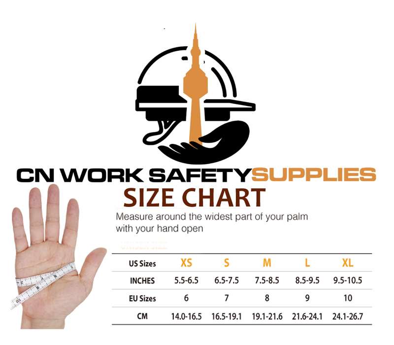 mohawk mig welding gloves cowhide leather size chart