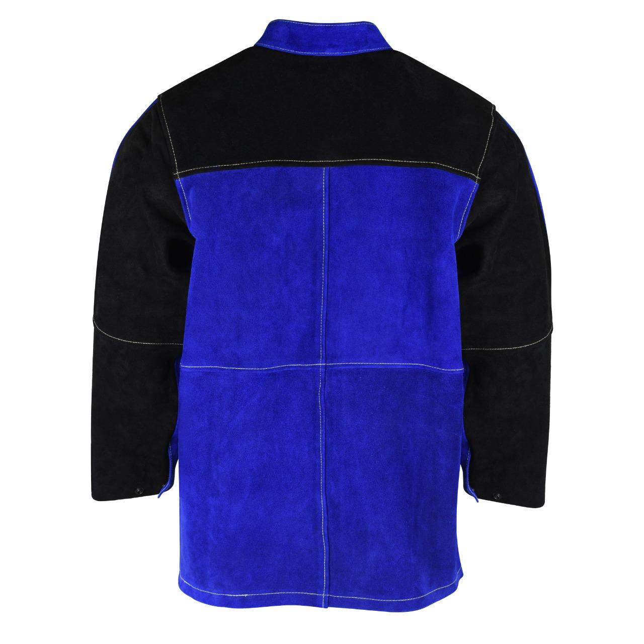 cowhide split leather welding jacket