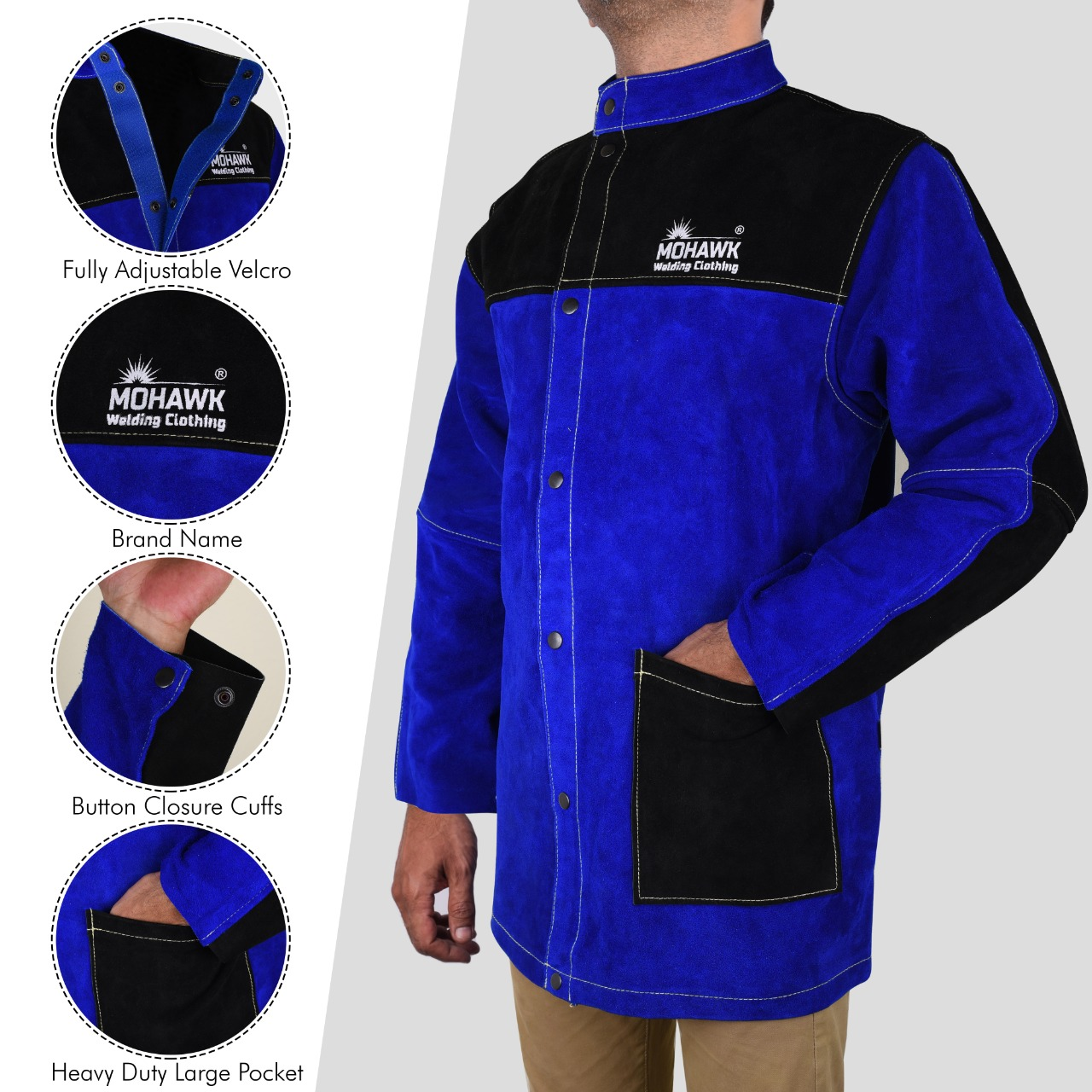 Mohawk Welding Jacket Cowhide Side Split Leather