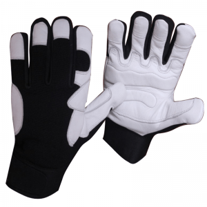Goat skin leather anti vibration gloves. gel padded palm provides a great resistant against vibration or drilling work