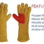 split leather mig welding gloves